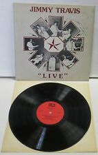 Jimmy Travis Live LP Vinyl Record Autographed indie obscure private country