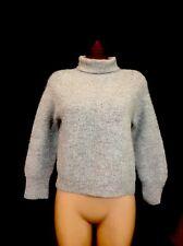 Reformation Sweater Grey Alpaca Turtleneck Size XS