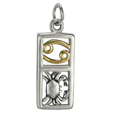 Cancer Sign Sterling Silver Zodiac Pendant Charm Astrology Gold Plated Jewelry