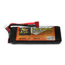 Zop Power 11.1V 5000mAh 3S 30C LiPo Li-poly Battery T-Plug Fr RC Helic Airplane