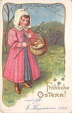 BG9173 girl child egg  ostern easter greetings germany