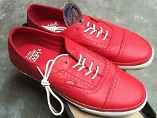 Vans Era Brogue CA Leather Red Sz 9.5 NIB