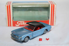 TEKNO 834 FORD MUSTANG CONVERTIBLE METALLIC BLUE MINT BOXED RARE SELTEN RARE
