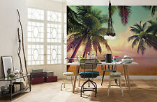 Giant Wall mural photo Wallpaper 366x254cm Miami beach & palms