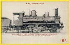 cpa LOCOMOTIVE de 1885 des CHEMINS de FER d'ORLÉANS Lignes à profil accidenté