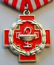 Original FOR MERITS IN MEDICINE Russian Medal Order Red Cross + Blank Document