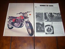 1974 HONDA CB360G    - ORIGINAL ARTICLE MOTORCYCLE CB-360 TEST