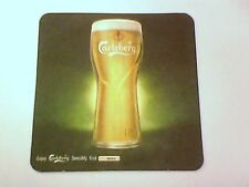 Vintage CARLSBERG Beer-wise your in a good place  - Beermat / Coaster   2 Sided