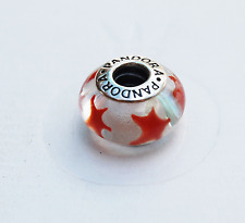 Genuine Pandora Murano Glass Bead Cinnamon or Red Star 790906