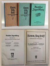 Konvolut Liederbuch Deutscher Jugendklang 1928 & Komm, sing froh Teil 2&3 xz
