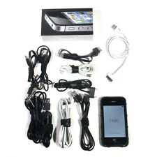 Apple iPhone 4s 64GB Black Sprint Phone New Screen, 10 Cables, Magpul Case Nice!