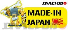 JDM CLUB Official - MADE IN JAPAN Decal - Yellow Robot with English Text
