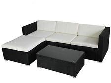 POLY RATTAN Lounge Gartenset schwarz Sofa Garten Garnitur Polyrattan Gartenmöbel