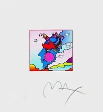 "Woodstock Profile, Limited Edition (Mini 4.875"" x 4.5""), Peter Max SIGNED w/COA"