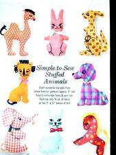 FAB VTG 60s 8 STUFFED ANIMALS SOFT TOYS DOG CAT HORSE RABBIT Sewing Pattern 5767
