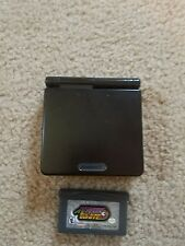 NINTENDO Graphite Black Gameboy Advance SP GBA with Megaman game
