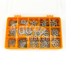 200 ASSORTED PIECE A2 STAINLESS FORM A FLAT WASHERS M3 M4 M5 M6 M8 M10 KIT