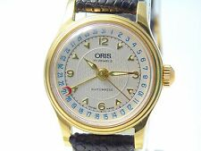 Stunning ORIS 7405B date pointer, exhibition back, new service, glass and strap
