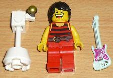 Lego City 1 Sänger mit Standmikrofon und Gitarre