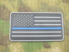 The thin blue line America flag Police SWAT Military Morale 3D PVC Patch