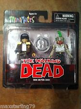 Walking Dead Minimates SHANE & PUNK ZOMBIE TRU Wave 1 Toys R US Exclusive