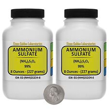 Ammonium Sulfate [(NH4)2SO4] 99% ACS Grade Powder 1 Lb in Two Bottles USA