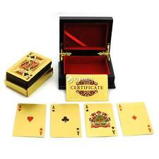 LOT 2 24K Gold Plated Playing Cards / Poker Deck DZ88
