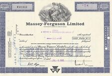 MDS USA MASSEY-FERGUSON LIMITED LESS THAN 100 SHARES 1981 COMMON STOCK
