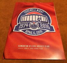 Oilers Final Last Game Rexall Place April 6 Sealed Program Package ++ Towel