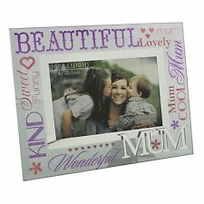 Mum Mirrored Words Photo Frame Lovely Gift For Special Mum Mothers Day Gift