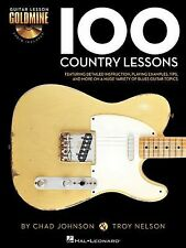 100 Country Guitar Lessons Goldmine Tab Book 2 Cd Set NEW!