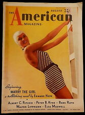 The American Magazine August 1935 PABST COKE CARS LIQOUR ADVERTISING