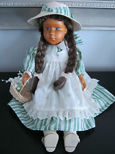 "Zasan Wood Original Design hand carved 18"" Maxie doll"