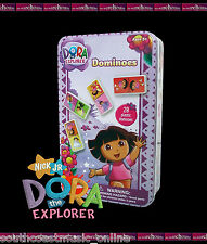 DORA THE EXPLORER 28 PIECE DOMINOES SET IN TIN GIRLS TOY CHILDREN KIDS GIFT GAME