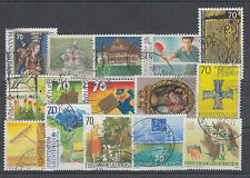 Liechtenstein Sc 1029/1279 used 1998-2004 issues, 15 different, F-VF