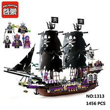 Enlighten Pirates of Caribbean Black Ship Figure Building Block Toy Fit for LEGO