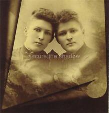CABINET CARD PHOTO: Post Mortem MEMORIAL Two Affectionate YOUNG WOMEN Sisters