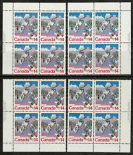 CANADA #780 14¢ Quebec Winter Carnival Match Set of Inscription Blocks MNH