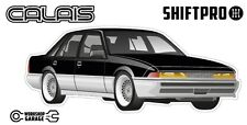 VL Calais Holden Commodore Sticker - Black with BBS Rims - ShiftPro Brand