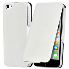 TRIXES iPhone 5C Flip Case Ultra Thin Shield Protective Light Cover White