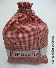 WÄSCHESACK Wäschebeutel Sack Wäschenetz Wäschetasche Beutel Wäsche rot 45x65cm