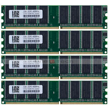 4GB (4x1GB) PC3200 DDR 400Mhz 184pin DDR DIMM Desktop Memory Low Density RAM