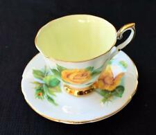 Vintage PARAGON England World Famous Roses MME SAUVAGE Set Demitasse Cup&Saucer