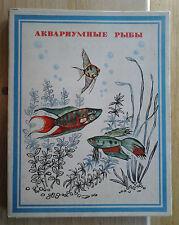 coffret 28 BOITES ALLUMETTES RUSSES poissons tropicaux aquarium