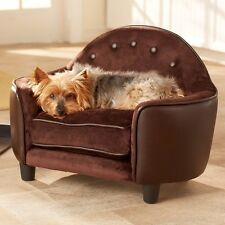 Dog Couch Sofa Pet Bed Cushion Sleeper Furniture Indoor Small Dog Cat Wood Frame