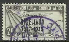 VENEZUELA. 1937. RESELLADO 1937-1938 Ovpt on 20b Grey Black. SG: 507. Fine Used.