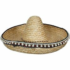 Adult Large Deluxe Straw Mexican Bandit Fancy Dress Costume Sombrero Hat AC9109