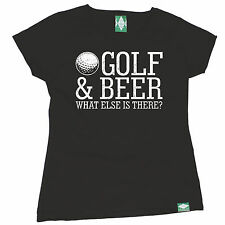 Golf & Beer What Else Is There WOMEN T-SHIRT golfer golfing funny birthday gift