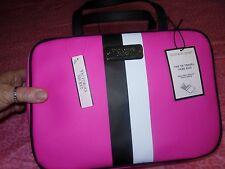 Victoria's Secret Travel Case Cosmetic Bag w/small bag Duo NEW! Black/Pink/White