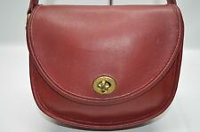 Coach United States Vintage Watson Bag In Red Leather Turnlock Flap Bag 9981